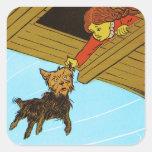 Ella cogió a Toto por el oído Calcomania Cuadrada Personalizada