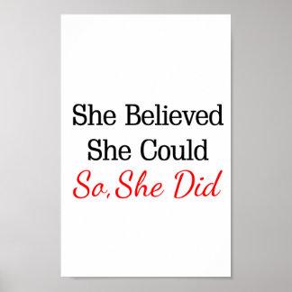 ¡Ella creyó que ella podría… así que ella hizo! Posters