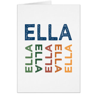 Ella Cute Colorful Greeting Cards