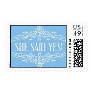 ¡Ella dijo sí! - azul de Ceci Nueva York Sellos