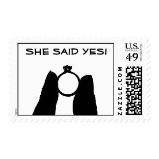 Ella dijo sí estampilla