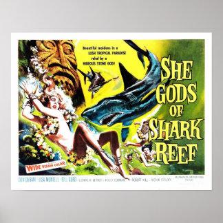 """Ella dioses poster del filón del tiburón"""