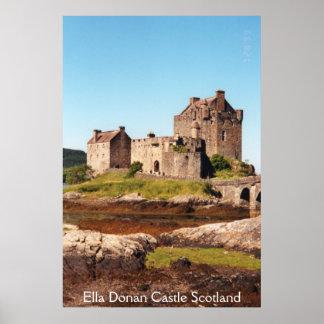 Ella Donan Castle_002, castillo Escocia de Ella Do Posters
