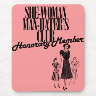 Ella el club del enemigo del hombre de la mujer mouse pad