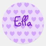 Ella en púrpura etiquetas redondas