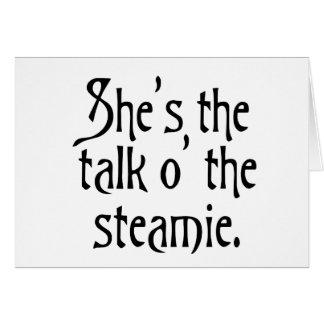 Ella es la charla del Steamie, cada una dice tan Tarjeta De Felicitación