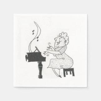Ella es música a mis servilletas de papel de los o