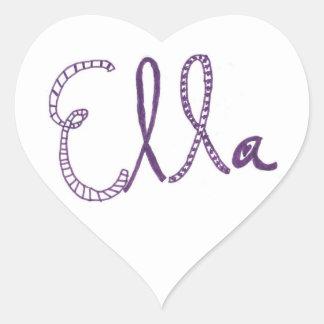 Ella Heart Sticker