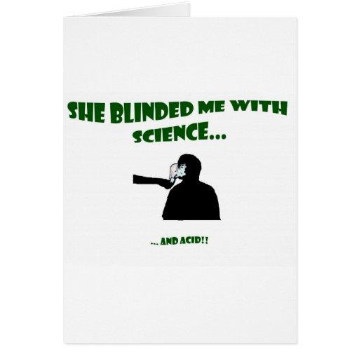 Ella me cegó con ciencia tarjetas