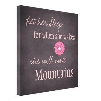 Ella moverá la impresión de la lona de las montaña lona envuelta para galerias