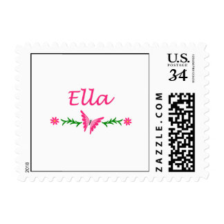 Ella (Pink Butterfly) Postage Stamp