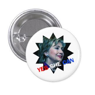 Ella puede sí - botón de la campaña - Hillary