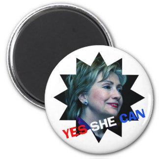 Ella puede sí - imán - Hillary Clinton 2016