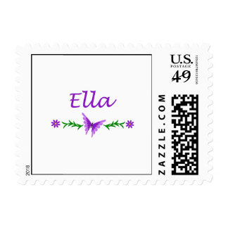 Ella (Purple Butterfly) Postage Stamps