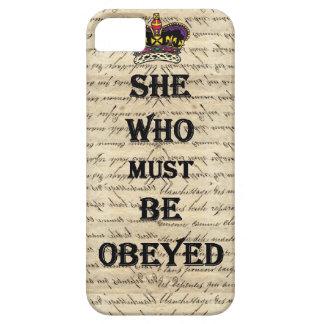 Ella que debe ser obedecida iPhone 5 protectores