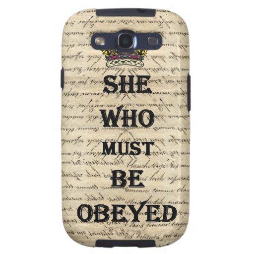 Ella que debe ser obedecida galaxy s3 cobertura