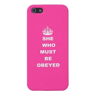 Ella que debe ser obedecida iPhone 5 funda
