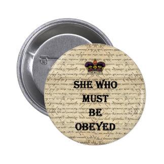 Ella que debe ser obedecida pin