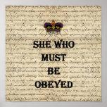 Ella que debe ser obedecida posters