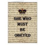 Ella que debe ser obedecida tarjetón