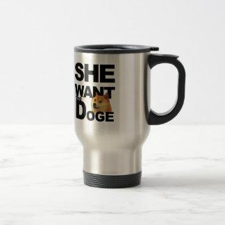 Ella quiere al dux taza de café