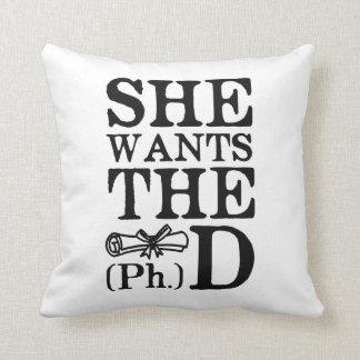 Ella quiere el PhD Almohada