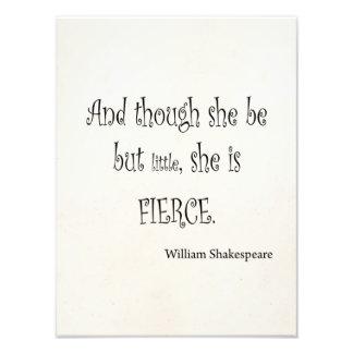 Ella sea pero poco ella es cita feroz de Shakespea Fotografia