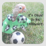 Ella Soccer It's Okay To Be Different. Stickers