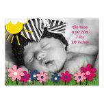 Ella subió la invitación del nacimiento invitación 12,7 x 17,8 cm