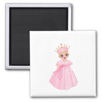 Ella The Enchanted Princess - Breast Cancer Magnet
