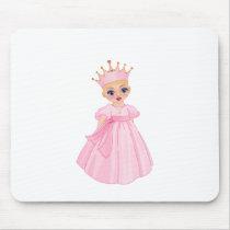 Ella The Enchanted Princess - Breast Cancer Mouse Pad