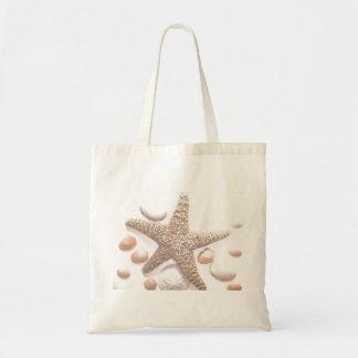 Ella vende cáscaras del mar bolsa tela barata
