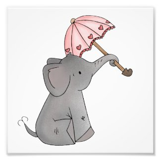 Ella's Umbrella Elephant Print