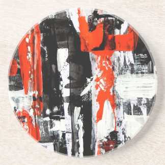 Elle-abstract-009-1620-Original-Abstract-Art-untit Beverage Coasters