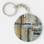 Elle-abstract-025-2424-WP-Original-Abstract-Art-Re Keychain