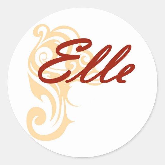 Elle Classic Round Sticker