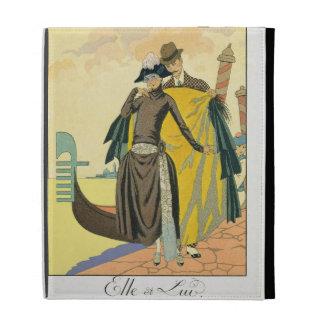 Elle et Lui, 1921 (pochoir print) iPad Cases