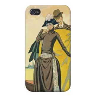Elle et Lui, 1921 (pochoir print) iPhone 4/4S Cases