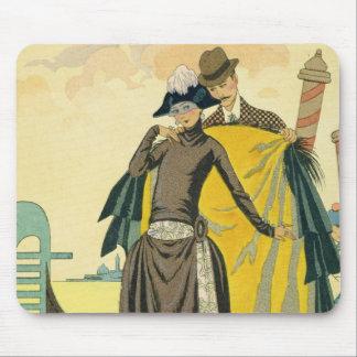 Elle et Lui, 1921 (pochoir print) Mouse Pad