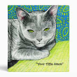 Elle the Korat Cat Binder