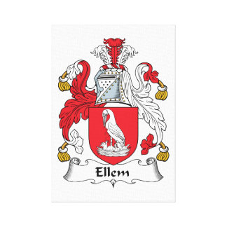 Ellem Family Crest Gallery Wrapped Canvas