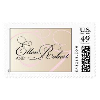 Ellen and Robert Monogram Stamp