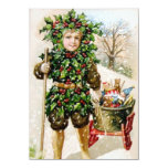 Ellen Clapsaddle: Holly Boy with Toys 4.5x6.25 Paper Invitation Card