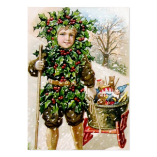 Ellen Clapsaddle: Holly Boy with Toys Large Business Card