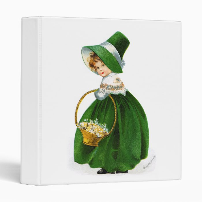 Ellen Clapsaddle's St. Patrick's Day Girl 3 Ring Binder