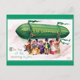 Ellen Clapsaddle: St. Patricks Day Zeppelin