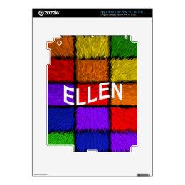 ELLEN DECALS FOR iPad 3
