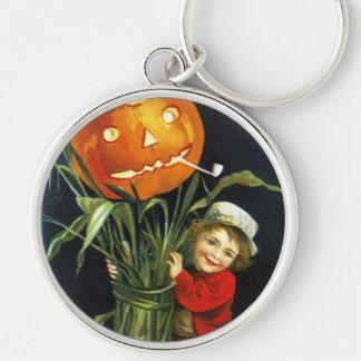 Ellen H. Clapsaddle: A Merry Halloween Silver-Colored Round Keychain