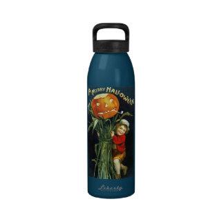Ellen H. Clapsaddle: A Merry Halloween Reusable Water Bottle