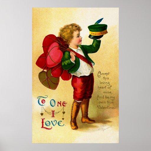 Ellen H. Clapsaddle: Accept this loving Heart Poster
